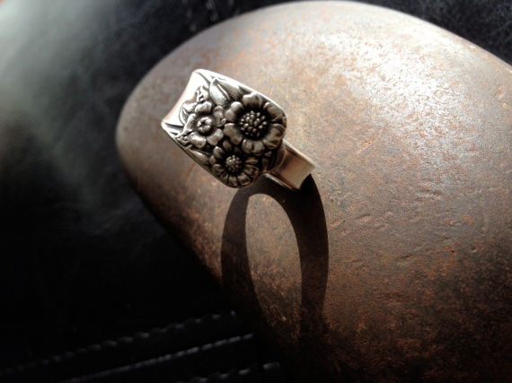 sunflowers spoon ring